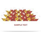 Mariposa roja y amarilla de la bandera del vector Foto de archivo libre de regalías