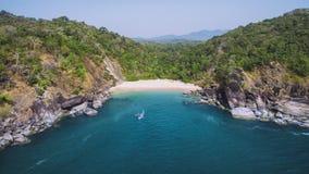 Mariposa secreta hermosa de la playa Estado turístico de Goa en la India Imagenes de archivo