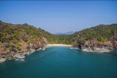 Mariposa secreta hermosa de la playa Estado turístico de Goa en la India Fotos de archivo libres de regalías