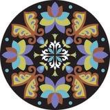 Mariposa tradicional china oriental de la flor del modelo ilustración del vector