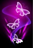 Mariposa transparente de la fantasía ilustración del vector