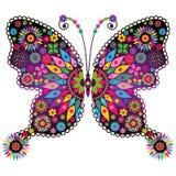 Mariposa viva del vintage de la fantasía Fotografía de archivo libre de regalías