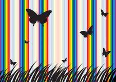 Mariposa y arco iris Fotografía de archivo libre de regalías