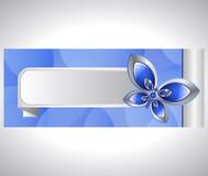 Mariposa y bandera de cristal Imagenes de archivo