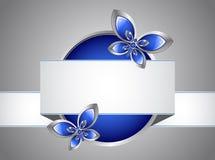 Mariposa y bandera de cristal Fotos de archivo