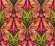Mariposa y elementos florales Imagen de archivo
