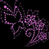mariposa y flor Imagen de archivo