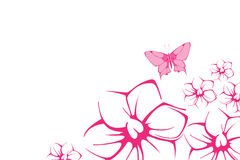 Mariposa y flor stock de ilustración