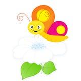 Mariposa y flor libre illustration