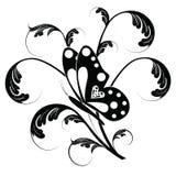 Mariposa y floral Imágenes de archivo libres de regalías