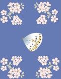 Mariposa y flores libre illustration
