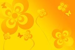 Mariposa y flores Imagen de archivo libre de regalías