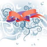 Mariposa y ornamento Fotos de archivo libres de regalías