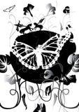 Mariposa y pegasos blancos Stock de ilustración