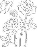 Mariposa y Rose Abstract/ai Fotografía de archivo
