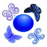 Mariposas azules Imagenes de archivo