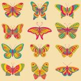 Mariposas brillantes Imagenes de archivo