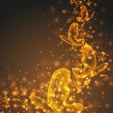 Mariposas brillantes del oro Imágenes de archivo libres de regalías