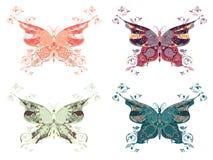 Mariposas coloridas fijadas Foto de archivo libre de regalías