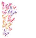 Mariposas coloridas realistas aisladas para la primavera ilustración del vector