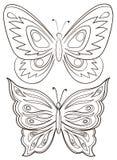 Mariposas, contornos Fotografía de archivo