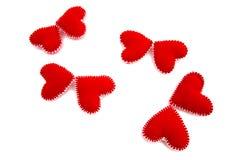 Mariposas de corazones Fotos de archivo