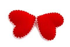 Mariposas de corazones Imagen de archivo libre de regalías
