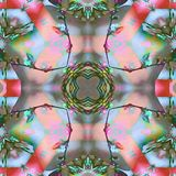 Mariposas de la flor del fractal del batik Foto de archivo