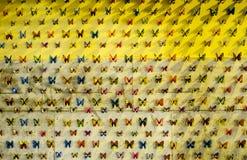 Mariposas de la pared Fotografía de archivo