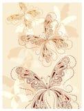Mariposas de la vendimia Fotos de archivo libres de regalías