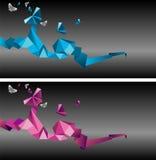Mariposas de Origami Imagen de archivo libre de regalías