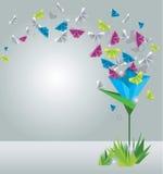 Mariposas de papel. Imágenes de archivo libres de regalías