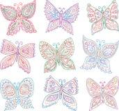 Mariposas decorativas Imagen de archivo libre de regalías