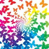 Mariposas del arco iris Imágenes de archivo libres de regalías