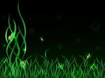 Mariposas del arco iris en hierba verde libre illustration