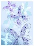 Mariposas del azul de la vendimia Fotografía de archivo libre de regalías