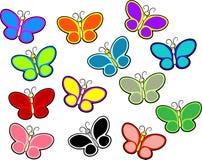 Mariposas del color Foto de archivo libre de regalías