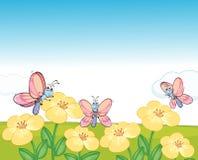 Mariposas del vuelo stock de ilustración