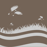 Mariposas en el claro stock de ilustración