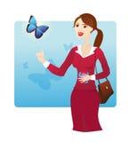 Mariposas en el estómago Foto de archivo libre de regalías
