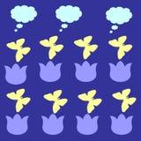 Mariposas en las flores Fotos de archivo