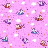 Mariposas en un cielo rosado Imagen de archivo libre de regalías