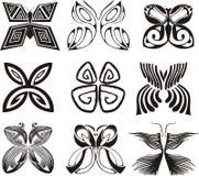 Mariposas estilizadas Imágenes de archivo libres de regalías