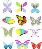 Mariposas fijadas Imágenes de archivo libres de regalías