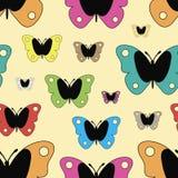 Mariposas inconsútiles del color de la textura libre illustration