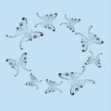 Mariposas Mariposas estilizadas Imagen de archivo libre de regalías