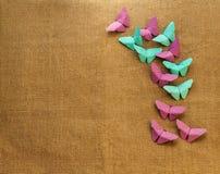 Mariposas multicoloras del papel Imágenes de archivo libres de regalías