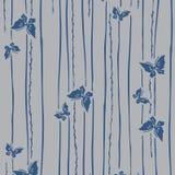 Mariposas patternJapanese de la flor de la flor de cerezo del rosa japonés y modelo de florecimiento de la rama Foto de archivo