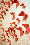 Mariposas rojas decorativas Imagenes de archivo