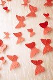 Mariposas rojas decorativas Fotos de archivo